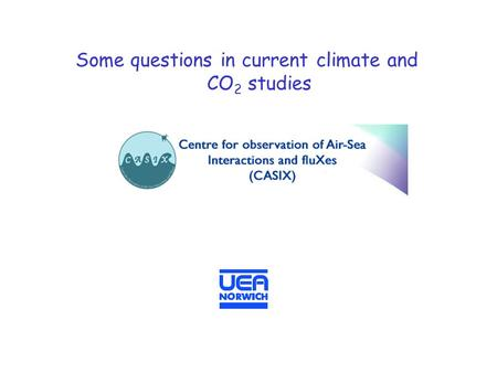 Some questions in current climate and CO 2 studies.