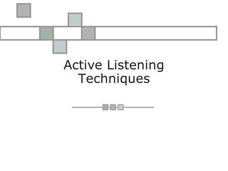 Active Listening Techniques