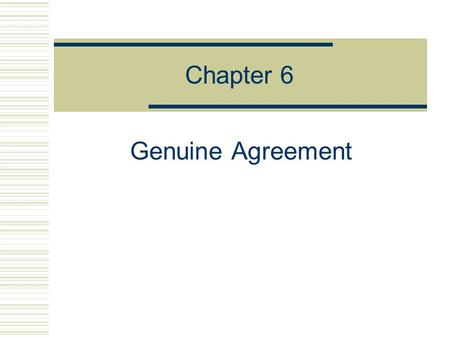 Genuine Agreement Meeting Of The Minds Ppt Video Online Download