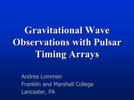 Gravitational Wave Detection Using Pulsar Timing Current Status and