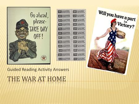 guided reading activity answers the role of women in the military rh slideplayer com 19.3 the war at home guided reading answers Home Front World War 1