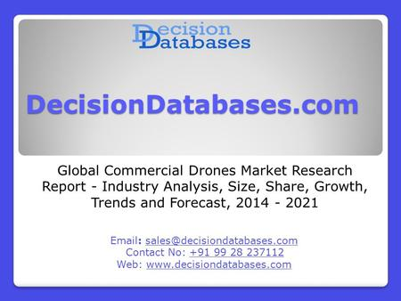 Global Commercial Drones Market Research Report