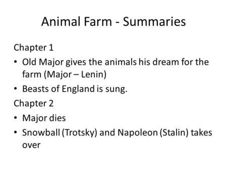 Level 3 Questions Your Task Create 5 Level 3 Questions Over Animal Farm Chapters 1 5 A Level 3 Question Is A Semi Open Ended Question Which Generates Ppt Download