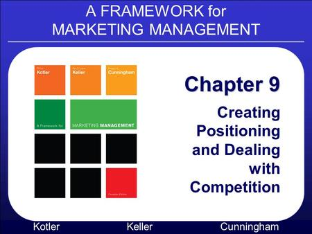 A FRAMEWORK for MARKETING MANAGEMENT Kotler KellerCunningham Chapter 9 Creating Positioning and Dealing with Competition.