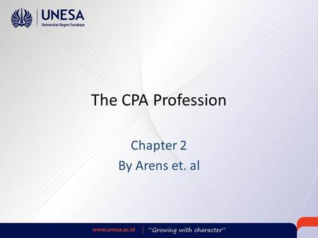 The CPA Profession Chapter 2 By Arens et. al. Learning Objective 1 Describe the nature of CPA firms, what they do, and their structure.