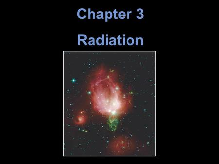 Chapter 3 Radiation. Units of Chapter 3 3.1 Information from the Skies 3.2 Waves in What? The Wave Nature of Radiation 3.3 The Electromagnetic Spectrum.