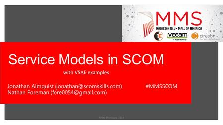 Service Models in SCOM with VSAE examples