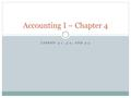 LESSON 4-1, 4-2, AND 4-3 Accounting I – Chapter 4.