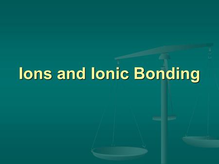 Ions and Ionic Bonding. Electrons and Energy Levels First, let's review: First, let's review: Electrons are found in energy levels Electrons are found.