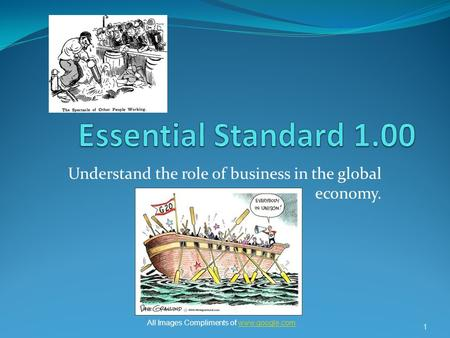 Understand the role of business in the global economy. 1 All Images Compliments of www.google.comwww.google.com.