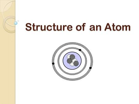 Structure of an Atom. What Is an Atom? An atom is often referred to as the building blocks of matter subatomic proton neutronelectron Atoms are composed.