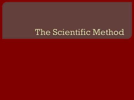 " Turn to a new page in your science notebook. Name it ""Scientific Method.""  Create this table in your notebook! Card Number Part of the Scientific Method."