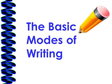 The Basic Modes of Writing. 5/29/2016Free template from www.brainybetty.com 2 Creative Writing The primary purpose of creative writing is to entertain.