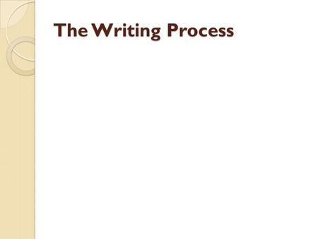 The Writing Process. THE WRITING PROCESS ◦ The writing process consists of 3 broad stages:  Prewriting (before writing)  Writing (during)  Postwriting.
