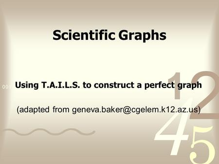 Using T.A.I.L.S. to construct a perfect graph