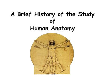 Human Anatomy As A Science Ppt Video Online Download