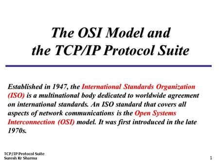 Network Architecture & Standards - ppt video online download