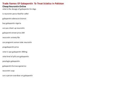 Gabapentin Side Effects Webmd Buy Neurontin Online