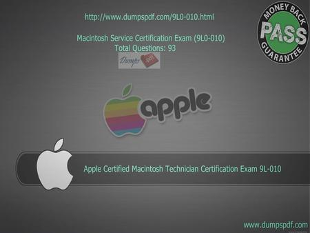 Mac Service Certification Exam - ppt download