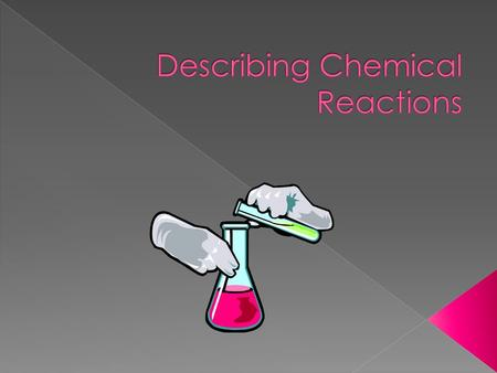  A chemical equation is a short, easy way to show a chemical reaction using symbols instead of words.  A reactant is the substance you have at the beginning.