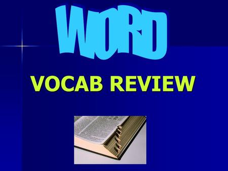 VOCAB REVIEW. process of copying an item from the Clipboard into the document at the location of the insertion point Pasting Click for the answer Next.