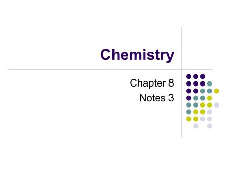 Chemistry Chapter 8 Notes 3. Review Compounds Can all be represented by chemical formulas Are connected by chemical bonds Ionic Metallic Covalent Compounds.