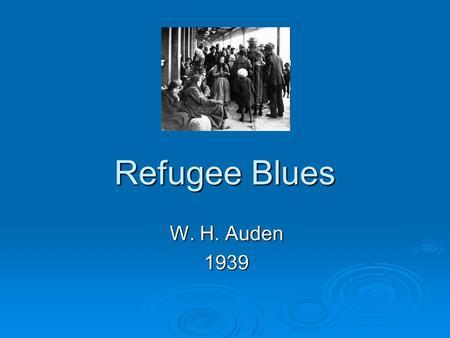 wh auden 1st september 1939