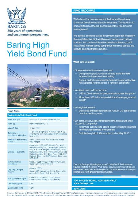 FUND BROCHURE Baring China Select Fund We believe being