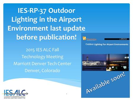 IES-RP-37-15: Outdoor Lighting for Airport Environments