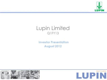 1 Lupin Limited Corporate Presentation September ppt download