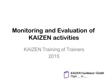 KAIZEN activities for improving health care and hospital