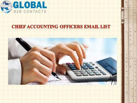 Chief Accounting Officers Email Database List A chief accounting officer or a CAO plays a vital role in the organization as he/she is responsible for.