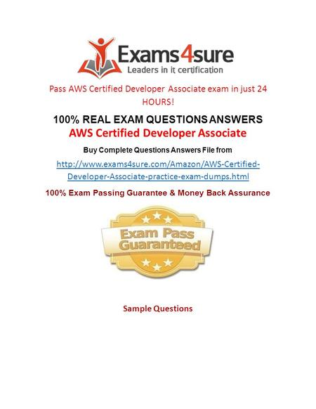 Amazon AWS Certified Developer Associate Exam Questions PDF ...