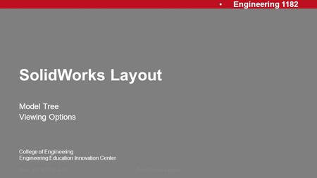 Solidworks 2005 Training manual