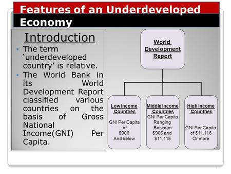 underdeveloped economy