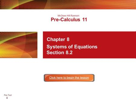 Math 20-1 Chapter 8 Systems of Equations - ppt download