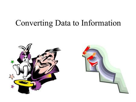 Converting Data to Information. Know your data Know your audience Tell a story.