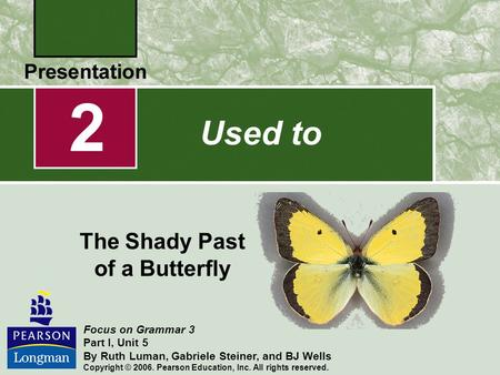 The Shady Past of a Butterfly
