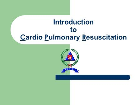 Introduction to C ardio P ulmonary R esuscitation.