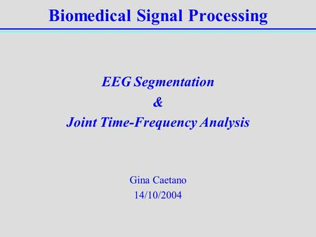 Digital Signal Processing - ppt video online download