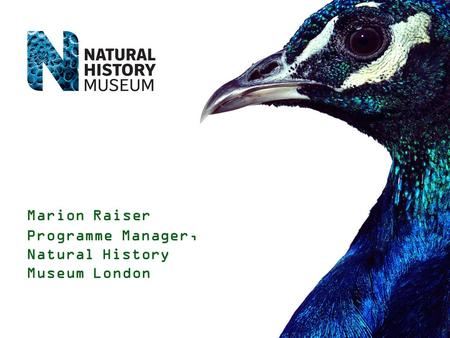 Marion Raiser Programme Manager, Natural History Museum London.