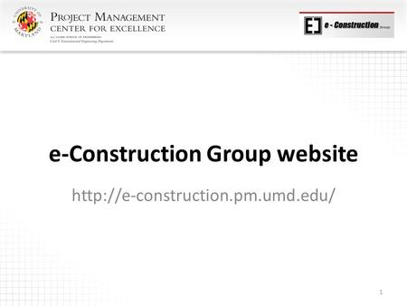 E-Construction Group website  1.