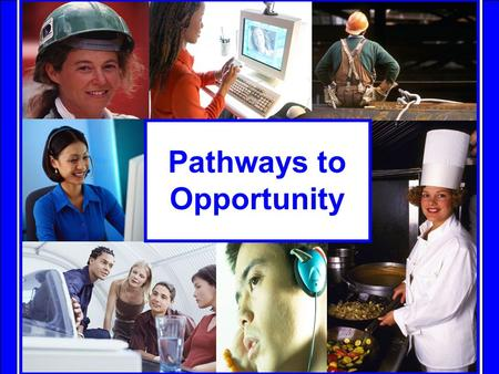 Pathways to Opportunity. The Pathways Students in Ontario have many options for post secondary training. There are: 28 colleges, 21 universities, 100s.