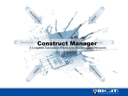Construction Management Software is a popular Enterprise Resource Planning (ERP) system which integrates all data and processes of a construction company.