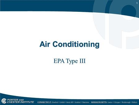 Air Conditioning EPA Type III.