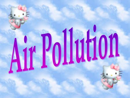 Air pollution is caused by emissions of particulate matter and harmful gases.the most common air pollutants are: Suspended particulates Sulphur dioxide.