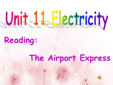 Reading: The Airport Express They are ________ _______. electricalappliances.