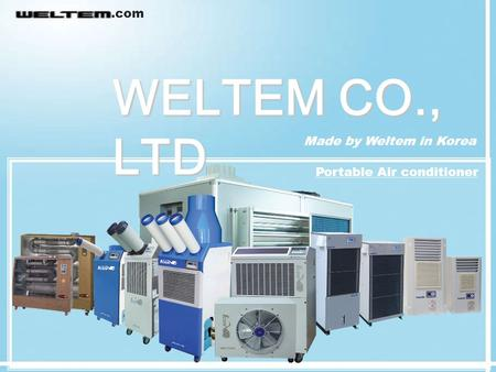 .com WELTEM CO., LTD Made by Weltem in Korea Portable Air conditioner.