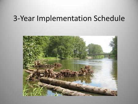 3-Year Implementation Schedule. What is the 3-Year Implementation Schedule? A list of prioritized projects for implementers with a time frame to complete.
