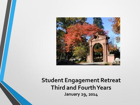 Student Engagement Retreat Third and Fourth Years January 29, 2014.